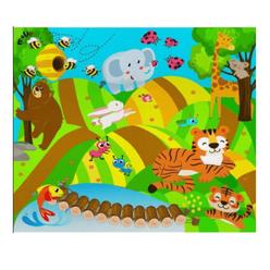 Molie Neşeli Orman Oyun Halı Seti Mol-035 - Thumbnail