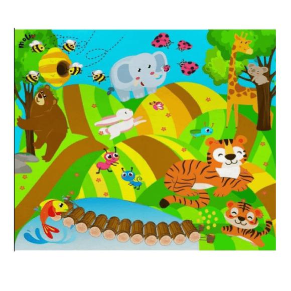 Molie Neşeli Orman Oyun Halı Seti Mol-035