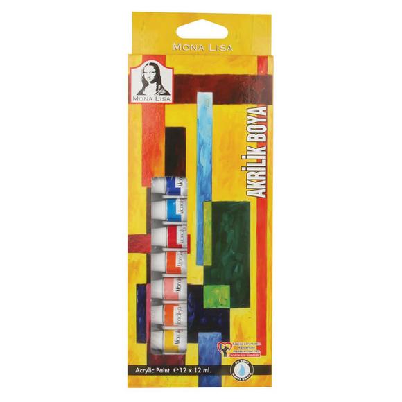 Mona Lisa Akrilik Tüp Boya Seti 12x12 ml