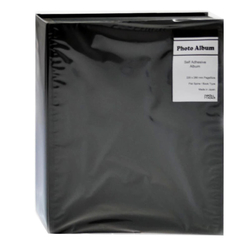 NCL Yapışkanlı Resim Albümü Siyah 40 Sayfa - Thumbnail