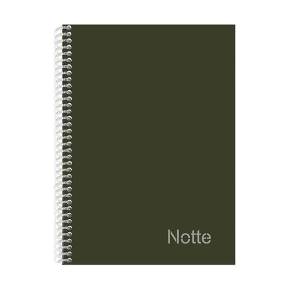 Notte Pastel Spiralli Sert Kapak Çizgili Defter A4 120 Yaprak 50-106