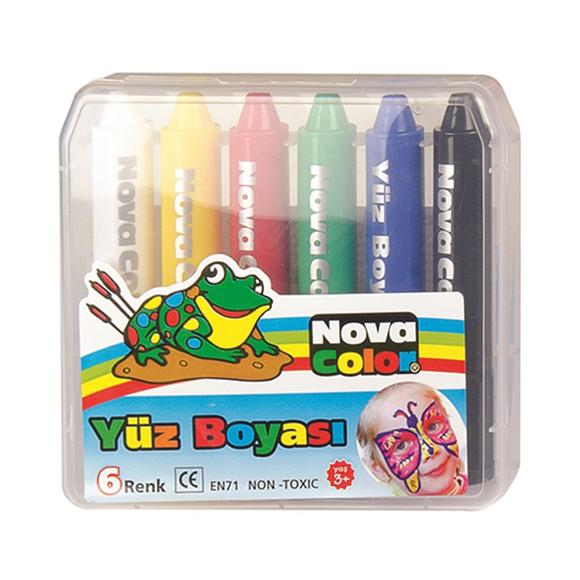 Nova Color Yüz Boyası 6 Renk NC-210