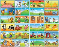 Orchard Çiftlik Zıt Anlamlar 2'li Puzzle 208 - Thumbnail