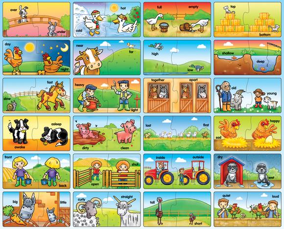 Orchard Çiftlik Zıt Anlamlar 2'li Puzzle 208