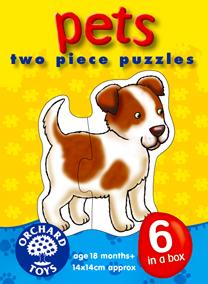 Orchard Ev Hayvanları 6'lı Puzzle 206