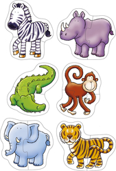 Orchard Orman Hayvanları 6'lı Puzzle 205 - Thumbnail