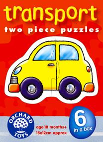 Orchard Ulaşım Araçları 6'lı Puzzle 203