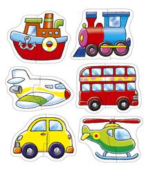 Orchard Ulaşım Araçları 6'lı Puzzle 203 - Thumbnail