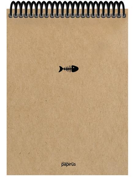 Papirüs Kraft Sert Kapak Bloknot 100yp 17x24cm Düz