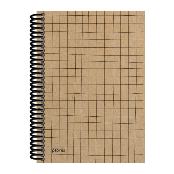 Papirüs Kraft Sert Kapak Defter 100yp 17x24cm Çizgili