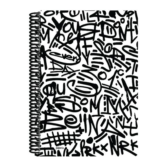 Papirüs Mini Sert Kapak Defter Siyah 100yp 17x24cm Düz