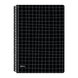 Papirüs Mini Sert Kapak Defter Siyah 100yp 17x24cm Kareli - Thumbnail