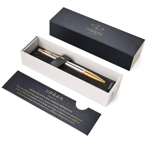 Parker Urban PremiumGT Tükenmez Kalem Altın Yaldız Gri 1931573