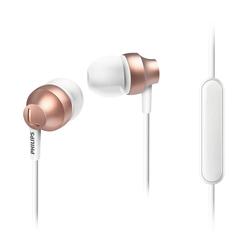 Philips Mikrofonlu Kulakiçi Kulaklık Altın SHE3855RG/00 - Thumbnail