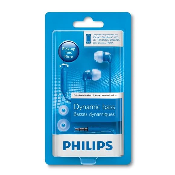 Philips Mikrofonlu Kulakiçi Kulaklık Mavi SHE3595BL