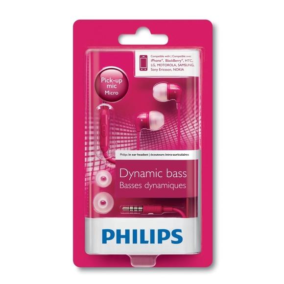 Philips Mikrofonlu Kulakiçi Kulaklık Pembe SHE3595PK