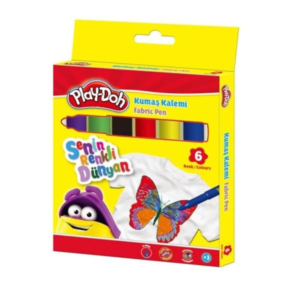 Play-Doh Kumaş Boya Kalemi 6 Renk PLAY-KE017