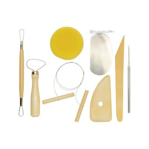 Ponart Seramik Şekillendirme Kiti 8'li - Pottery Tool Kit A15201