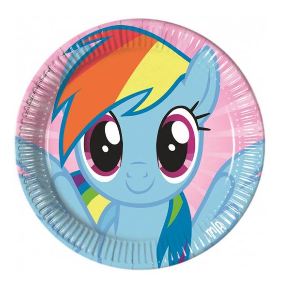 Pony Baskılı Tabak 23 cm 8'li