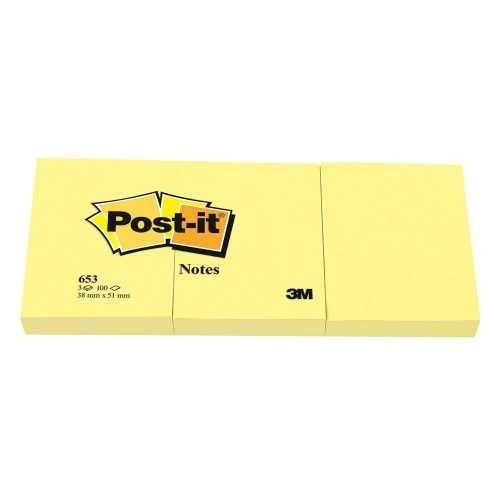 Post-it 100 Yaprak Not Sarı 38x51 mm 653