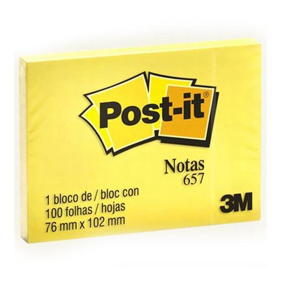 Post-it 100 Yaprak Not Sarı 76x102 mm 657