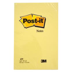 Post-it Düz 100 Yaprak Büyük Boy Not Sarı 102x152 mm 659 - Thumbnail
