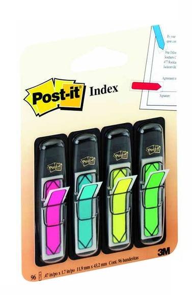 Post-it Index Ok Şeklinde 4 Neon Renk 684-ARR4