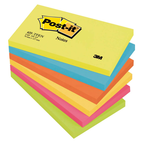 Post-it Yapışkanlı Not kağıdı 76x127 mm Pastel Tonlar 655-TFEN
