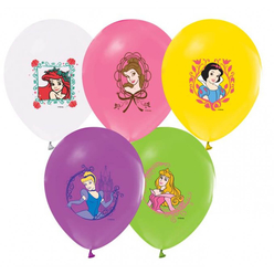 Prenses Baskılı Balon 12'li - Thumbnail