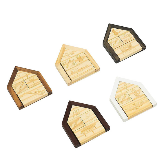 Professor Puzzle Einstein's House Ahşap Puzzle EIN-2
