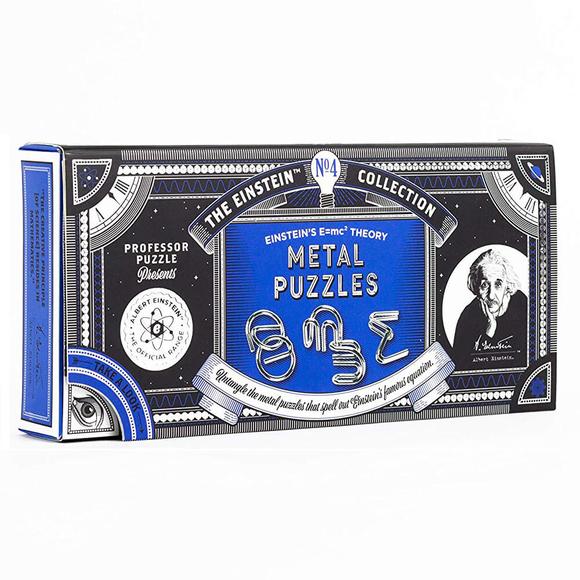 Professor Puzzle E=mc2 Metal Puzzle EIN-4