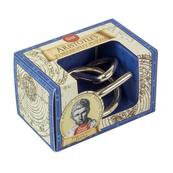 Professor Puzzle Great Minds Aristotle's Philosophy Mini Metal Puzzle
