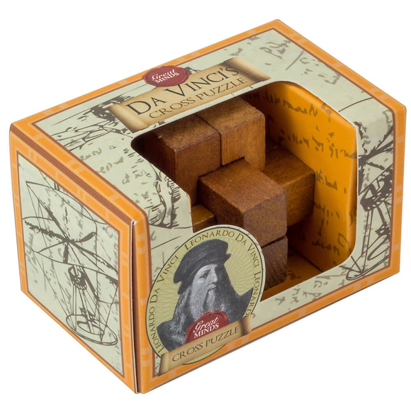 Professor Puzzle Great Minds Da Vinci's Cross Ahşap Mini Puzzle