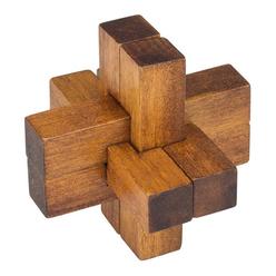 Professor Puzzle Great Minds Da Vinci's Cross Ahşap Mini Puzzle - Thumbnail