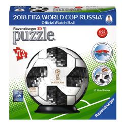 Ravensburger 3D Puzzle 2018 Dünya Kupası Futbol Topu 72 Parça 117512 - Thumbnail