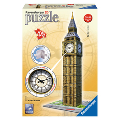 Ravensburger Big Ben With Clock 216 Parça 3D Puzzle 125869 - Thumbnail