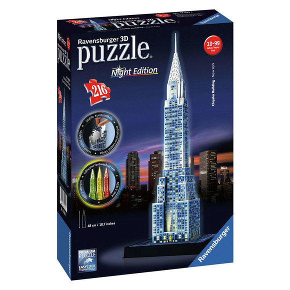 Ravensburger Chrysler Binası - Night 216 Parça 3D Puzzle 125951