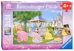 Ravensburger Disney Büyülü Prensesler 2'li 24 Parça Puzzle 88652 - Thumbnail