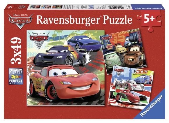 Ravensburger Disney Cars 2 3'lü 49 Parça Puzzle 92819