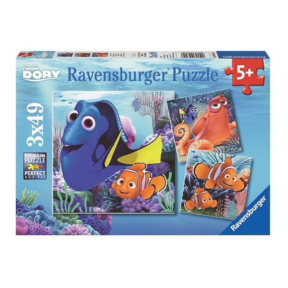 Ravensburger Disney Kayıp Balık Dori 3x49 Parça Puzzle 93458