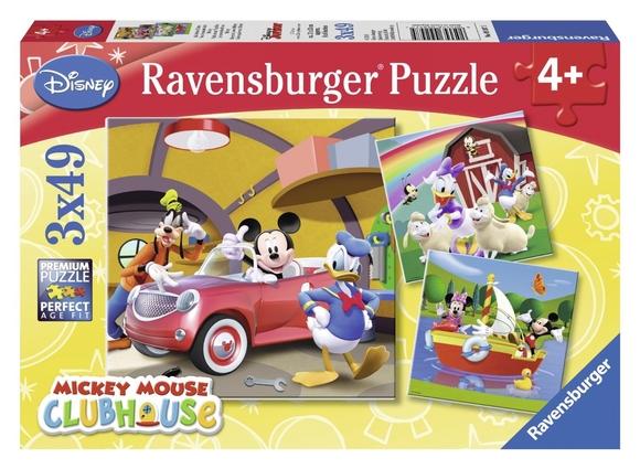 Ravensburger Disney Mickey Club House 3'lü 49 Parça Puzzle 92475