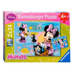 Ravensburger Disney Minnie 2'li 24 Parça Puzzle 88621 - Thumbnail