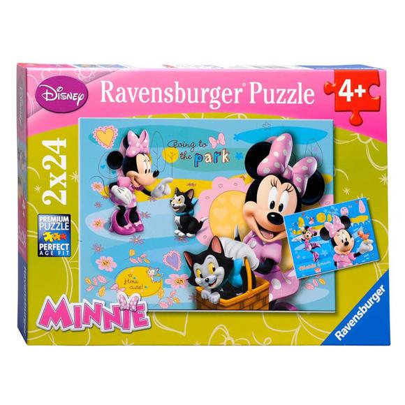 Ravensburger Disney Minnie 2'li 24 Parça Puzzle 88621