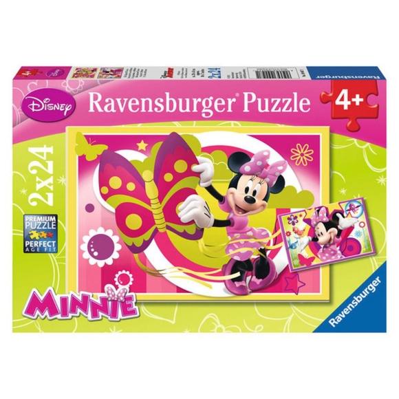 Ravensburger Disney Minnie İle Birgün 2x24 Parçalı Puzzle 90471