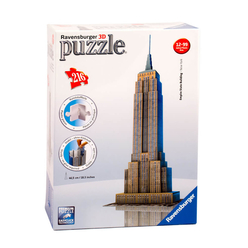 Ravensburger Empire State Binası 216 Parça 3D Puzzle 125531 - Thumbnail