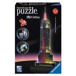 Ravensburger Empire State - Night 216 Parça 3D Puzzle 125661 - Thumbnail