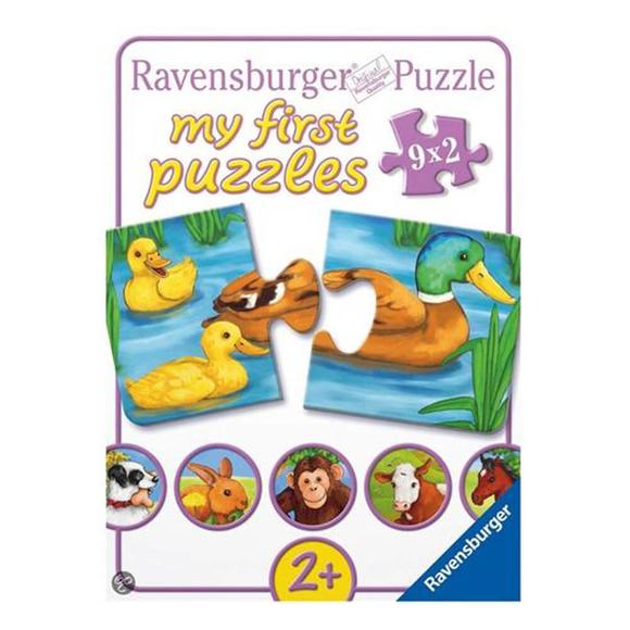 Ravensburger Hayvanlar 9X2 Parça Puzzle 73313