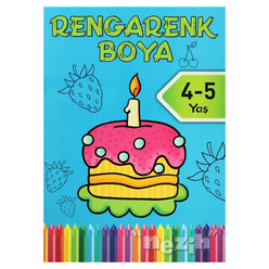 Rengarenk Boya - Mavi Kitap (4/5 Yaş) - Thumbnail