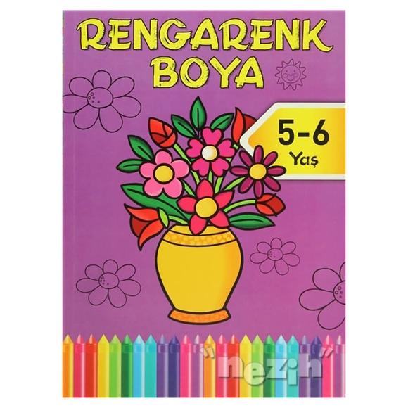 Rengarenk Boya - Mor Kitap - 5 - 6 Yaş