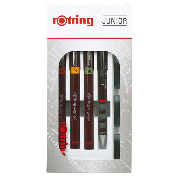 Rotring Isograph Rapido Set (0.2-0.3-0.5) + Tikky Junior S0699320